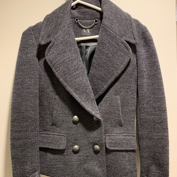 new york 50% price new products Womens peacoat from Armani Exchange